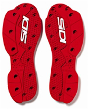 SIDI SMS SRS RED SUPERMOTO SLIDERS SOLES TO FIT SIDI CROSSFIRE SRS BOOTS