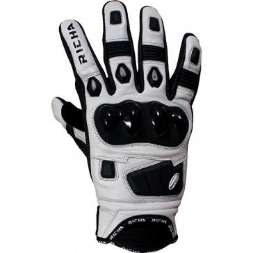 RICHA ROCK GLOVE BLACK/WHITE XS