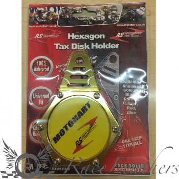 RS Tax Disc Holder Gold