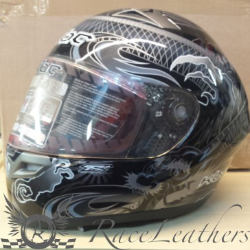KBC VR2 Dragon Silver Black Helmet XL