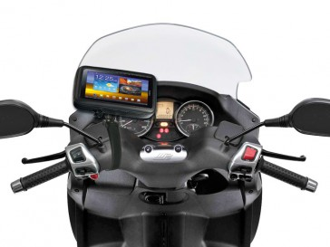 Interphone GPS 5.4Inch Motorcycle Non Tubular Handlebar Mount Holder