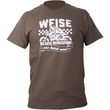 Weise Rep Casual Motorcycle Tee Shirt Olive