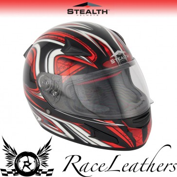 Stealth Helmet HD188 Full Face Red Daisho