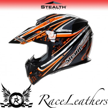 Stealth Helmet HD210 MX Orange Droid