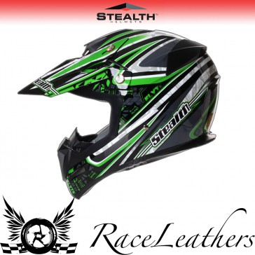 Stealth Helmet HD210 MX Green Droid
