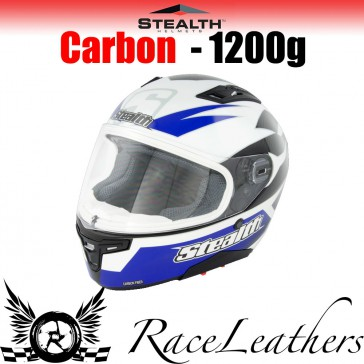 Stealth Helmet HD117 Full Face Carbon Stealth GP Replica Blue
