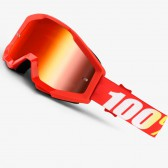 100% Strata Youth Goggles Furance Mirror Red Lens