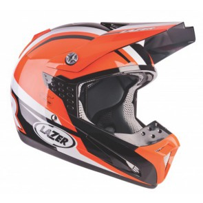 LAZER SMX NATIONS BLACK WHITE ORANGE HELMET