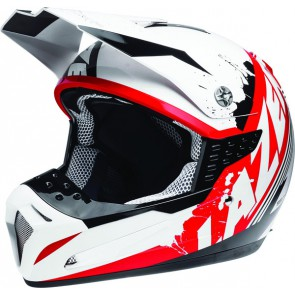 LAZER SMX WHIP WHITE BLACK RED HELMET