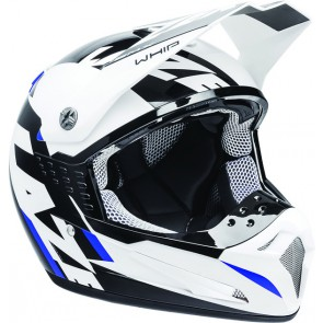 LAZER SMX WHIP WHITE BLACK BLUE HELMET