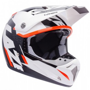 LAZER SMX WHIP WHITE BLACK ORANGE HELMET