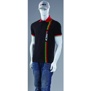 SIDI CASUALS POLO SHIRT BLACK STRIPE