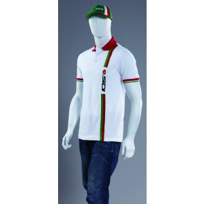 SIDI CASUALS STRIPE WHITE POLO SHIRT