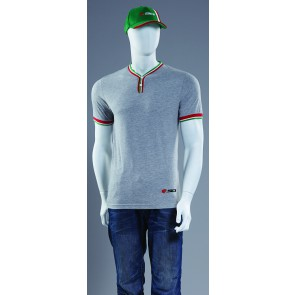SIDI CASUALS REGAL BUTTON T SHIRT GREY