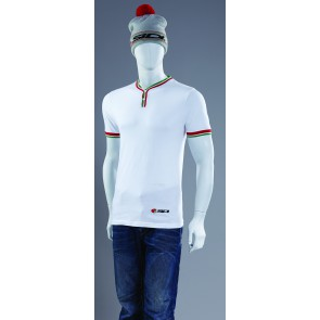 SIDI CASUALS T SHIRT REGAL BUTTON WHITE
