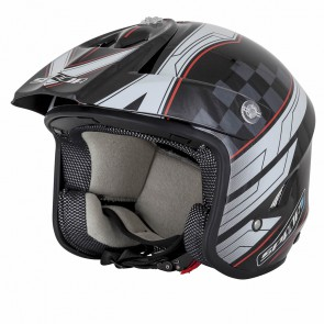 Spada Explorer Trials Helmet Black White