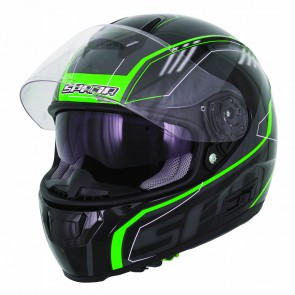 Spada SP16 Black Green Helmet