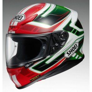 Shoei NXR Valkyrie TC4 Red White Green