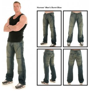 HORNEE SAM4 BLUE REGULAR MENS KEVLAR JEANS + KNEE ARMOUR