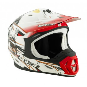 SPADA VIOLATOR GRIT WHITE/RED X-SMALL HELMET*