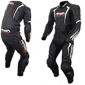 Armr Harada S Leather Suit Black White