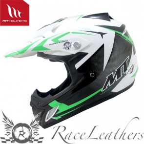 MT MX2 Steel White Green Free MT Pro 3 Goggles