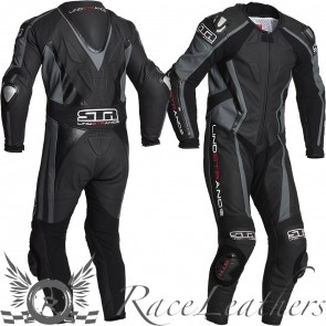 Lindstrands Hyper Grey 1 Piece Race Leather Suit