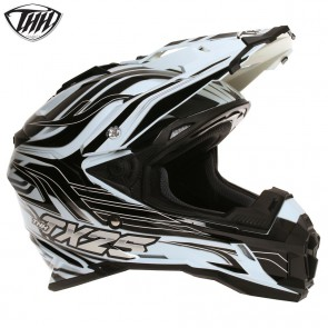 THH TX25 White Black Helmet