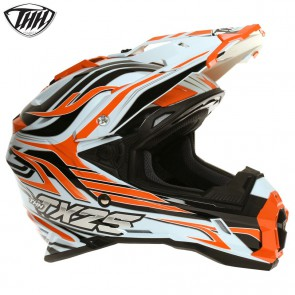 THH TX25 White Orange Helmet