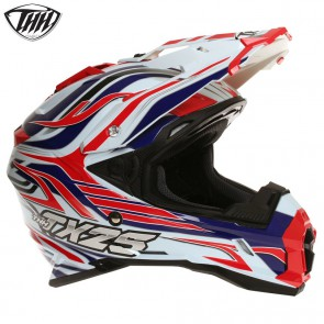THH TX25 White Red Blue Helmet