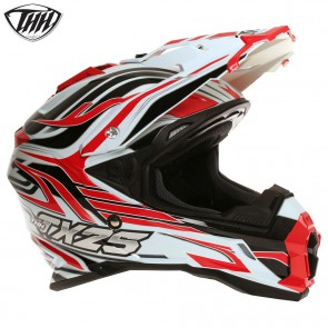 THH TX25 White Red Helmet