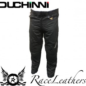 Duchini Black Motorcycle Trousers