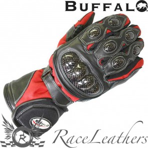 Buffalo Storm Gloves  Black Red