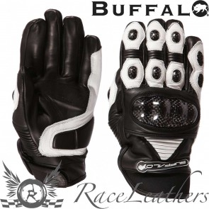 Buffalo Corto Gloves Black White