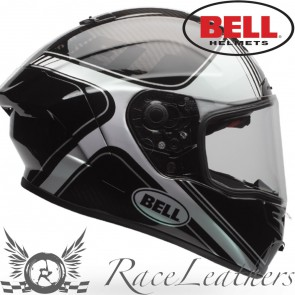 Bell Street Race Star Tracer Gloss Black White
