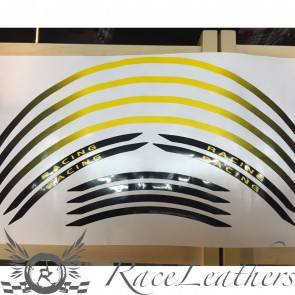 RS Wheel Stripes Black Yellow