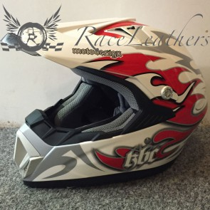 KBC X7 Alloy Red White Helmet