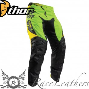 Thor Fuse Youth Pant S17 Dazz Flo Green / Yellow