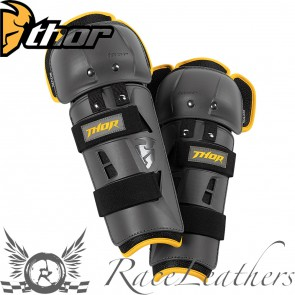 Thor Sector Gp Knee Guards S17 Charcoal / Yellow Youth