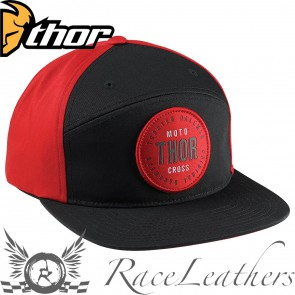 Thor Archie Curved-Crown Snap-Back Black / Red One-Size