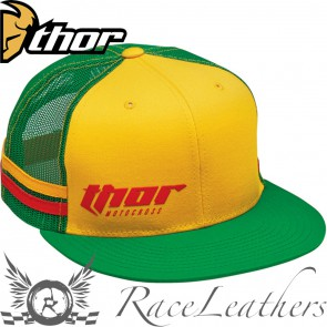 Thor Rusch Snap-Back Hat Green Yellow