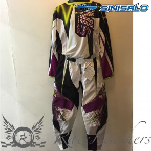 Sinisalo Black Purple MX Trouser Jersey Set
