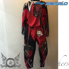 Sinisalo Red MX Trouser Jersey Set