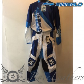 Sinisalo Blue Electrick MX Trouser Jersey Set