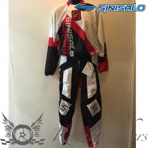 Sinisalo Red Electrick MX Trouser Jersey Set 28