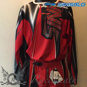 Sinisalo Red White MX Jersey