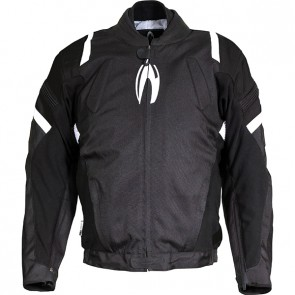 RICHA RIOT JKT.BLACK/WHITE S