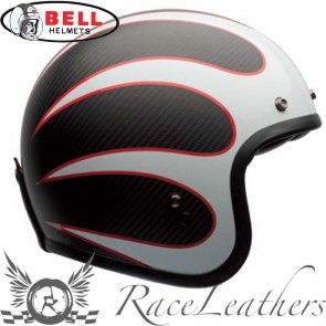 Bell Custom 500 Carbon Ace Cafe Ton Up Black White