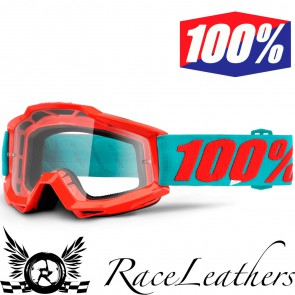 100% Goggles Accuri Passion Orange Clear Lens