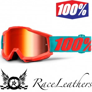 100% Goggles Accuri Passion Orange Mirror Red Lens